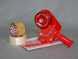 Hand operated Polyprop tape printer/dispenser